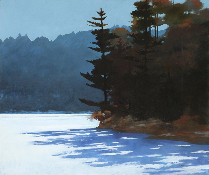 Marc Bohne - Oil Landscape Paintings - Walden Pond, 50 x 60 inches, oil on canvasl, available