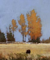 Marc Bohne Oil Landscape Painting - Western Mountain